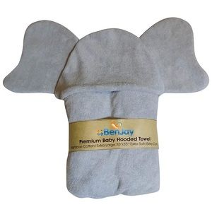 Baby unisex toddler hooded elephant towel